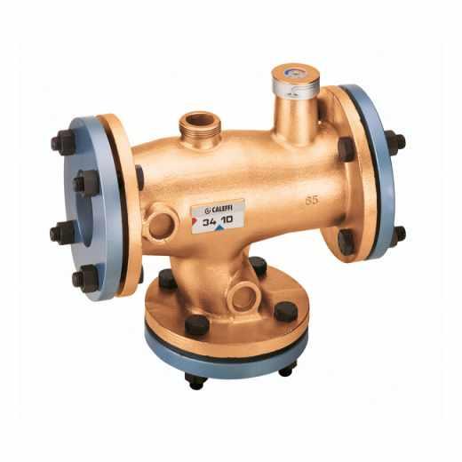524 - Termostatski mešni ventil, podesiv - telo od bronze, prirubnički priključci