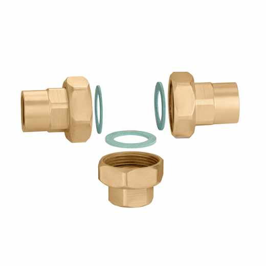 524 - Connection set for mixing valves with threaded connections 524 series