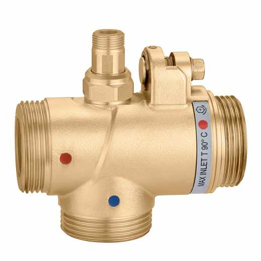524 - Adjustable thermostatic mixing valve for centralised systems
