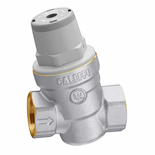 5330..H - Inclined pressure reducing valve. For high temperature. Brass body.