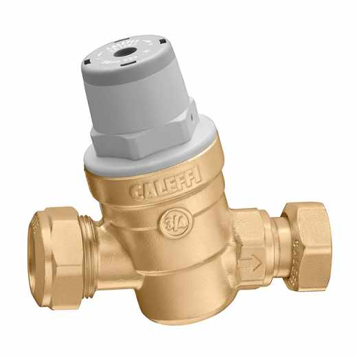 5331..H - Inclined pressure reducing valve for safety group.  For high temperature. Dezincification resistant alloy body.