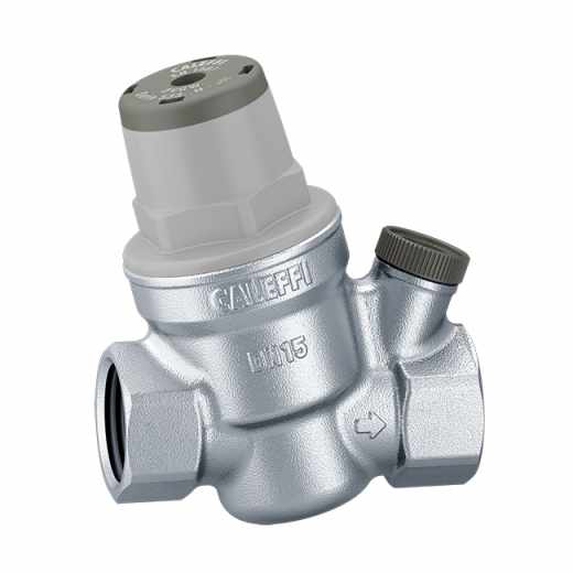 5334..H - Inclined pressure reducing valve - high temperature. Brass body. With pressure gauge connection.