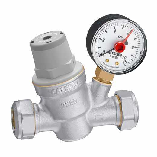 5338..H - Drukverminderaar hoge temperatuur met manometer 0÷10 bar. Lichaam van ontzinkingsvrije messing.