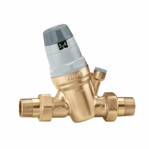 "5350 - Pressure reducing valve with self-contained replaceable cartridge. With 1/4"" F pressure gauge connection."