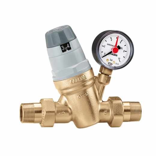 5350 - Pressure reducing valve with self-contained replaceable cartridge. With pressure gauge 0÷10 bar.