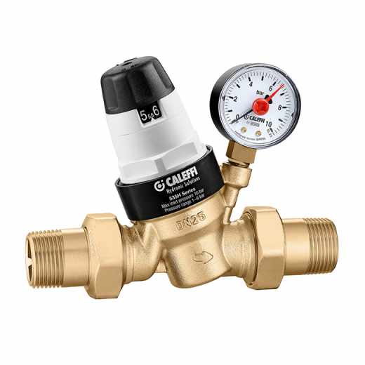 5350..H - Pressure reducing valve with self-contained replaceable cartridge. For high temperature. Certified to EN 1567