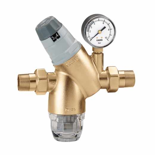5351 - Pressure reducing valve with self-contained replaceable cartridge. With pressure gauge or pressure gauge connection