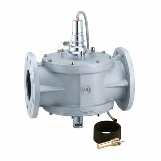 540 - Válvula de interceção de combustível. Corpo de alumínio. Ligações flangeadas.