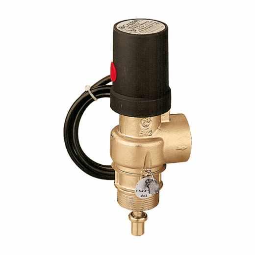 542 - Teplotný poisťovací ventil s núdzovým zabezpečením.