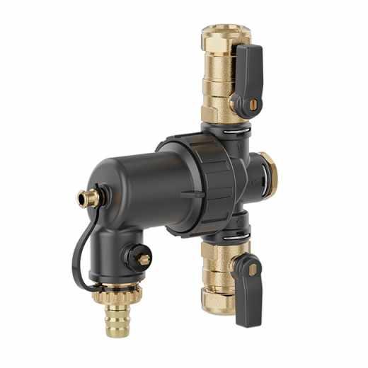 5450 - DIRTMAGMINI® - Odvajač nečistoće sa magnetom za ugradnju ispod kotla i sa zaustavnim ventilom priključci spojnicama Ø 22 mm