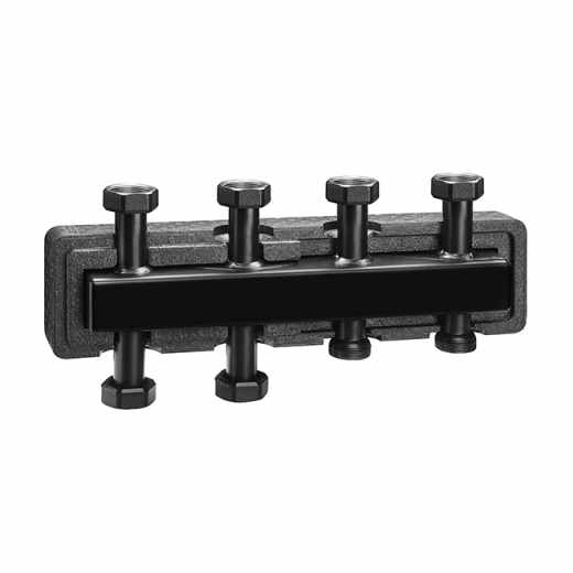 550 2+1 - Manifold for heating systems. Steel body. With pre-formed insulation