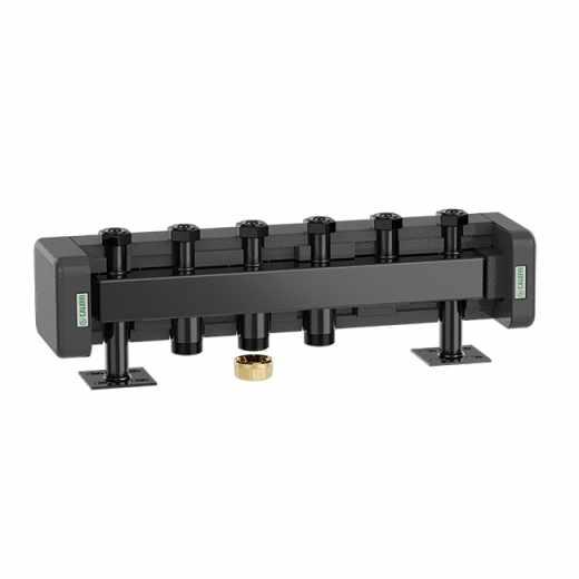 550 3 - Manifold for heating systems. Steel body. With pre-formed insulation.
