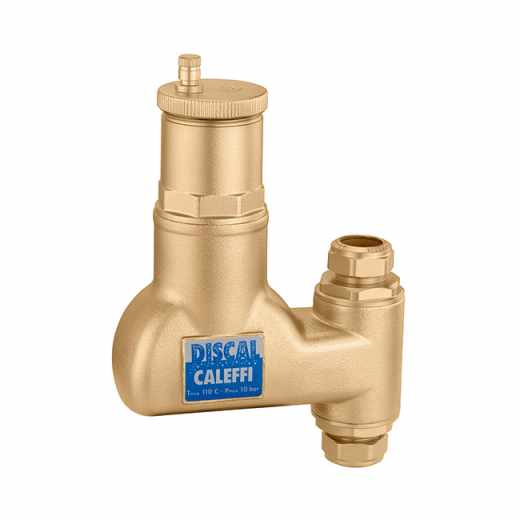 551 - DISCAL® - Luchtafscheiders voor verticale leidingen. Met knelkoppelingen Ø 22.