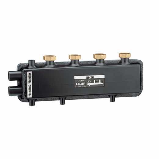 559 SEPCOLL 2 - SEPCOLL 2 - Hidravlični separator-kolektor za sisteme ogrevanja in osveževanja, medosna razdalja 125 mm
