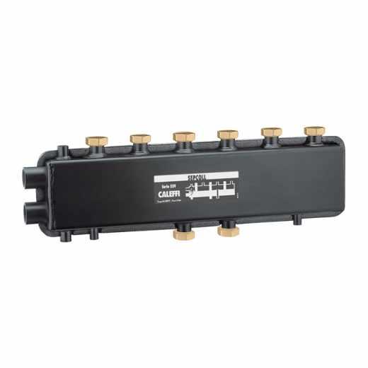 559 SEPCOLL 3+1 - SEPCOLL 3+1 Hidravlični separator-kolektor za sisteme ogrevanja in osveževanja, medosna razdalja 125 mm