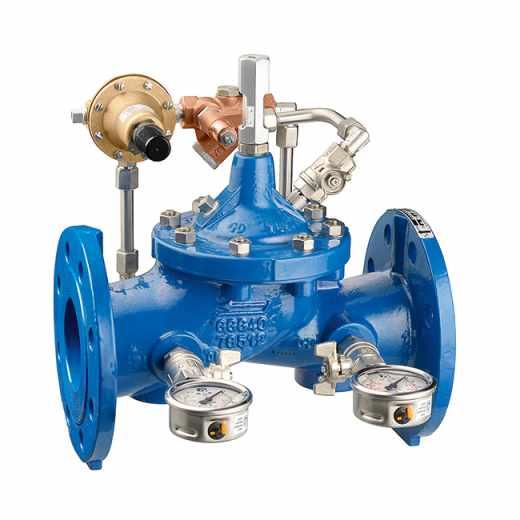 578 - Válvula estabilizadora de pressão. Ligações flangeadas
