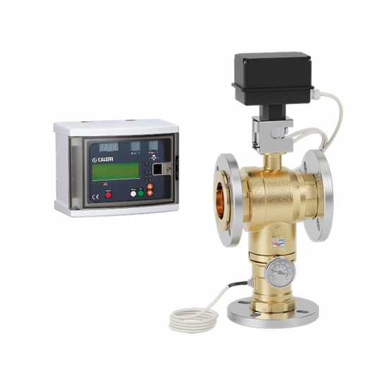 6000 - LEGIOMIX® - Electronic mixing valve with programmable thermal disinfection and check on disinfection. Flanged connections