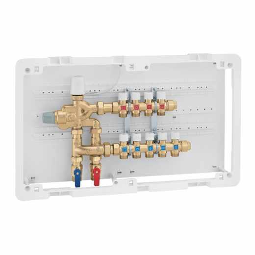 6005 - LEGIOFLOW® - Kompaktna multi-funkcionalna grupa za kontrolu temperature, termičke dezinfekcije i distribuciju sanitarne vode. Sa razdelnicima