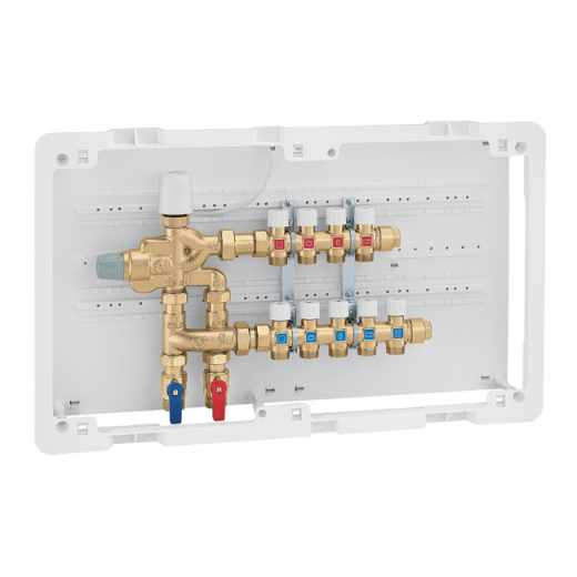 6005 - LEGIOFLOW® - Grupo compacto multifunção para controlo da temperatura e desinfeção térmica. Com coletores de distribuição