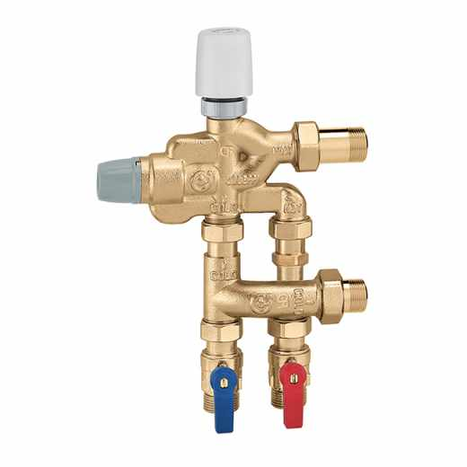 6005 - LEGIOFLOW® - Groupe compact multifonction de distribution sanitaire avec contrôle de la température et de la désinfection thermique - Version avec kit de dérivation pour circuit eau froide