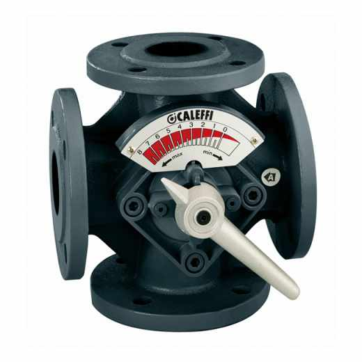 611 - Štiripotni mešalni ventil, prirobnični priključki, metuljasta loputa