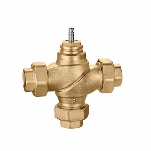 636 - Three-way regulating globe valve, threaded