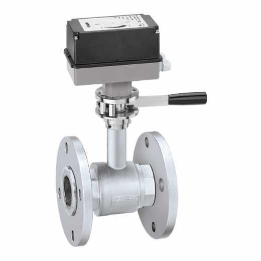 637 - Dvopotni elektromotorni kroglični ventil