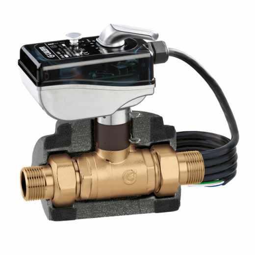 6452 - Моторизиран двупътен  сферичен зонов клапан за системи за климатизация