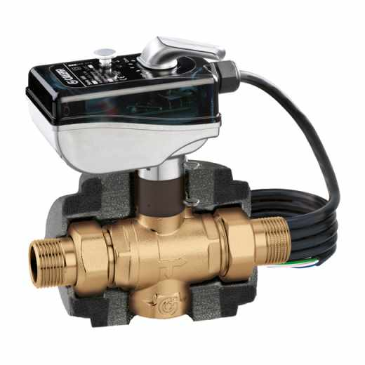 6453 - Motorised three-way ball zone valve for air conditioning systems