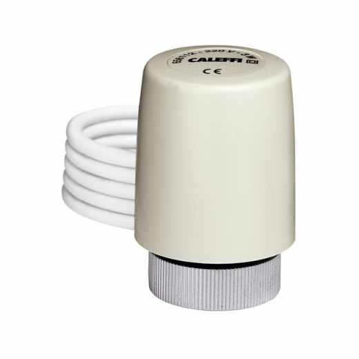 6561 - Commande électrothermique pour vannes de radiateurs, vannes de zone et collecteurs. Avec contacte auxiliaire.