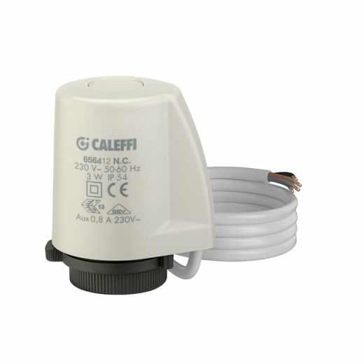6564 - Commande électrothermique pour vannes de radiateurs, vannes de zone et collecteurs. Consommation basse. Avec indication de la position d'ouverture. Avec contact auxiliaire.