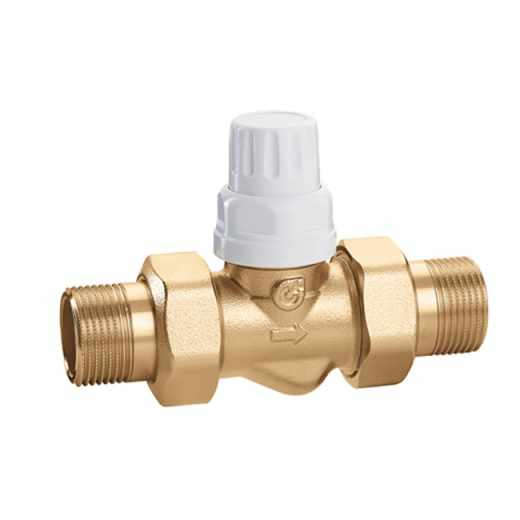 676 - Two-way zone valve for thermo-electric actuators 6563, 6561, 6562 and 6564 series