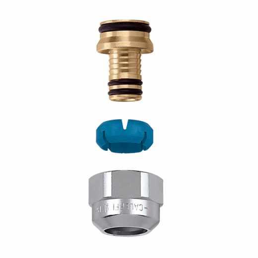 """679 - DARCAL-Adaptador para tubagem multicamada para trabalho a alta temperatura-3/4"""".Cromado"""