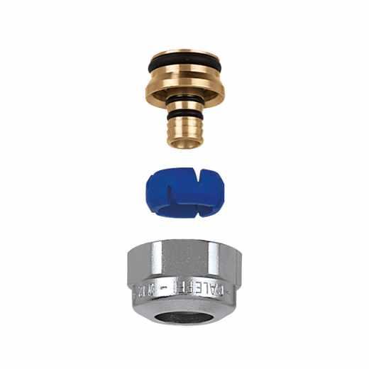 681 - DARCAL - Adaptador auto-ajustável para tubagem PE-X e multicamada. 23 p.1,5. Cromado