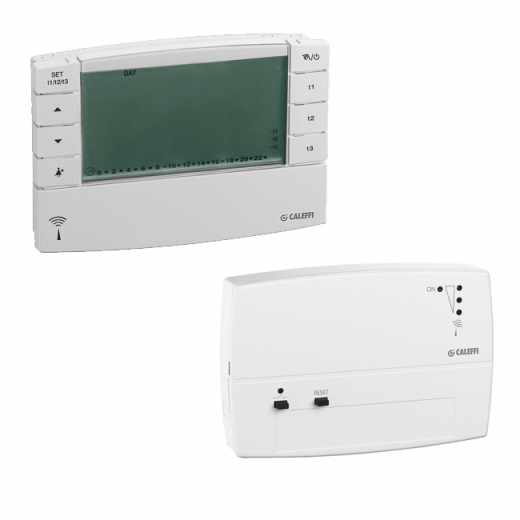 740 - Радиочестотен хроно-термостат + приемник със стенен монтаж