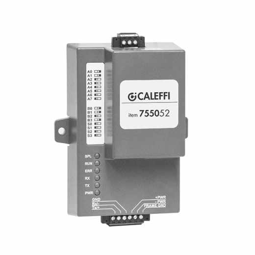 7550 - MODBUS-RTU/BACnet converter for connection with BMS systems