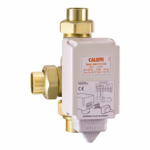NA164 - 3-way 24V AC Motorized 3-wire Control Temperature Mixing Valve