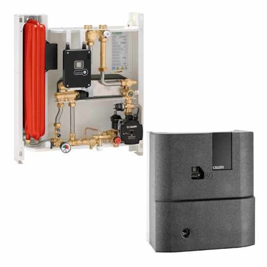 SATK40 - Compact wall-mounted indirect heat interface unit with DHW production in storage cylinder
